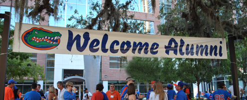 Alumni welcome banner