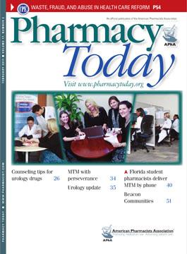 Pharmacy Today Magazine Cover