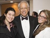 AMCP Student Chapter President Maryam Khazraee, Dr. Robert Navarro, and past president Jordana Wollmann celebrate the UF team's award