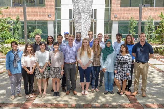 Nineteen graduate students began their training at the UF College of Pharmacy in fall 2017.
