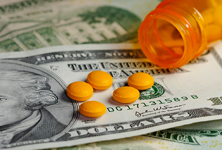 Generic Drugs Money Slider