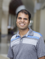 Vinayak Shenoy, Ph.D., an assistant research scientist in the UF College of Pharmacy's department of pharmacodynamics