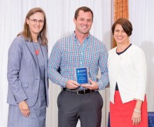 Matthew Kirchoff, '09, '11, is the recipient of the College of Pharmacy's Outstanding Young Alumni Award