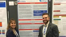 Katie Neff-Golub, Pharm.D., director of medication therapy management at WellCare Health Plans and a UF residency program preceptor, and Dean Koskinas, Pharm.D., a PGY-1 resident in the UF MTMCCC residency program, presented the award-winning poster at the Academy of Managed Care Pharmacy Annual Meeting in San Francisco.