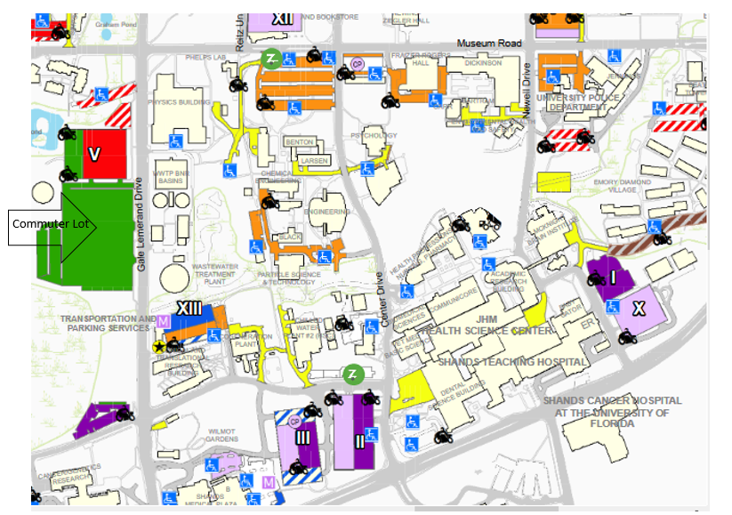 Uf Parking Map Orientation Parking » College of Pharmacy » University of Florida Uf Parking Map