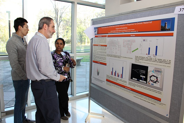 The UF College of Pharmacy annually hosts a student research day in the spring to showcase the research talents of students.