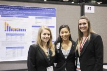 Pharm.D. students present a poster at ASHP