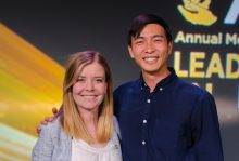 Douglas Tam and Shannon Stittsworth pose for a photo at APhA 2108 Annual Meeting & Exposition
