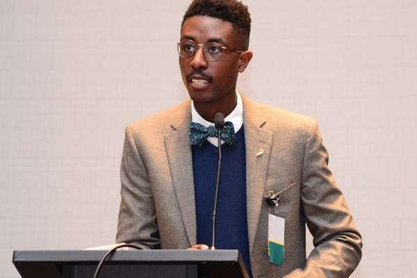 Joseph Washington speaks at SNPhA