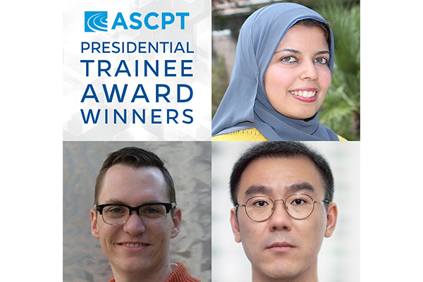 2021 ASCPT presidential trainee award winners