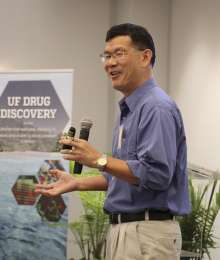 Dr. Ben Shen of Scripps Research presents at the 2019 Drug Discovery Symposium in Gainesville, Florida April 25.