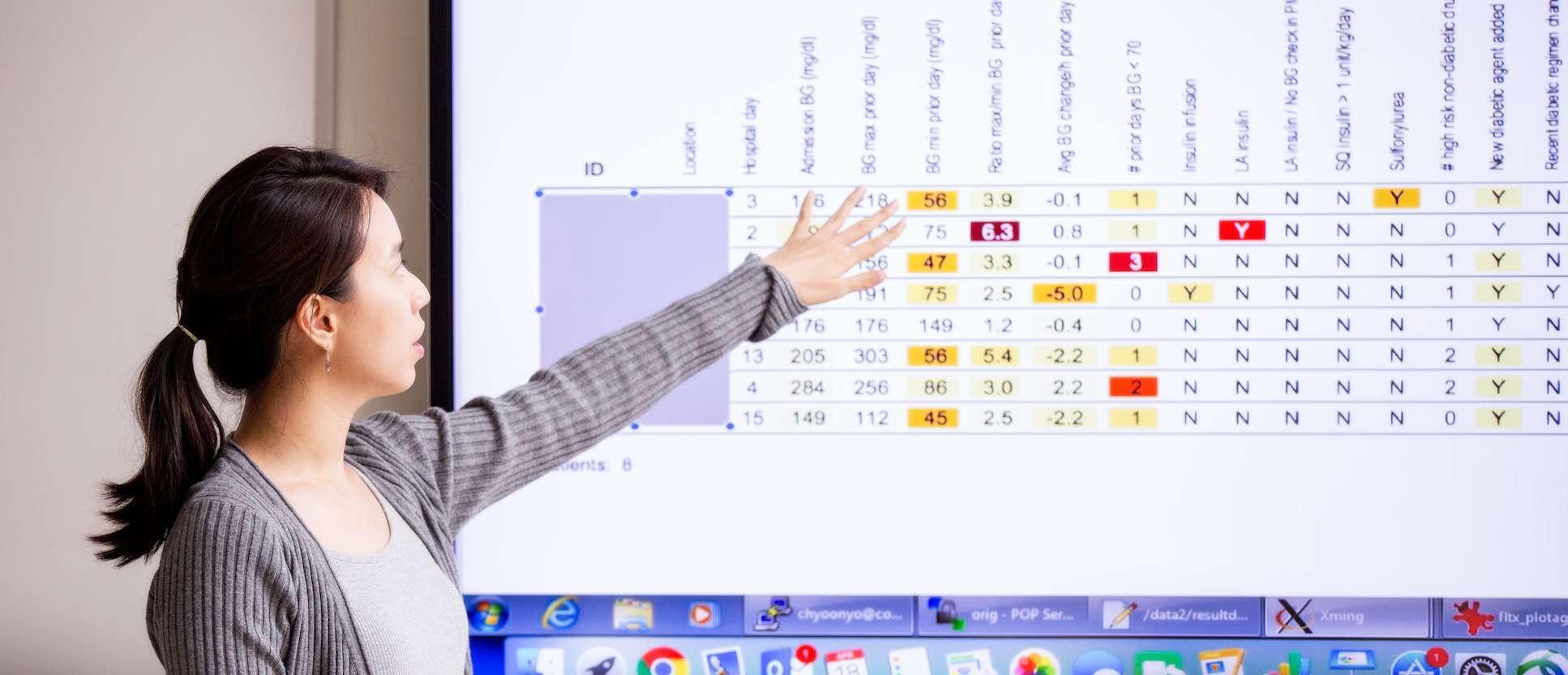 Student presents data