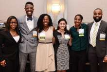 Joseph Washington and fellow SNPhA leaders