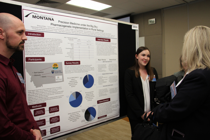 Pharmacy students from the University of Montana share their research on pharmacogenomics services in a telehealth model.