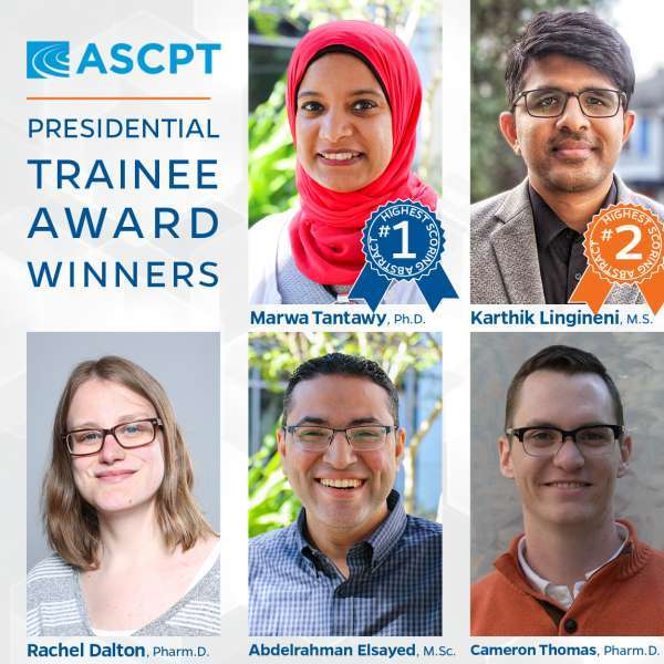 ASCPT presidential trainee awards 2020