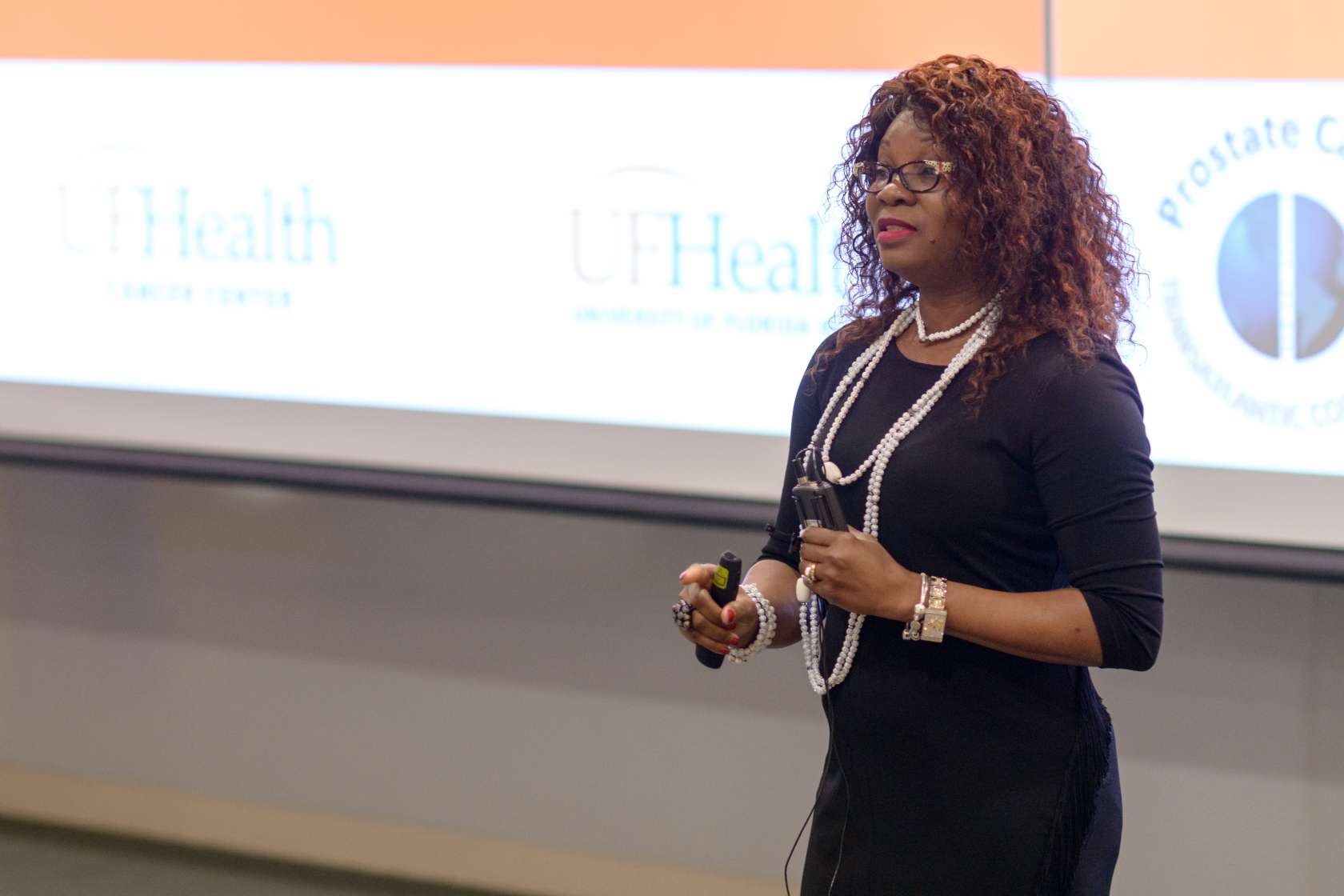 Folakemi Odedina, Ph.D., a professor of pharmacotherapy and translational research