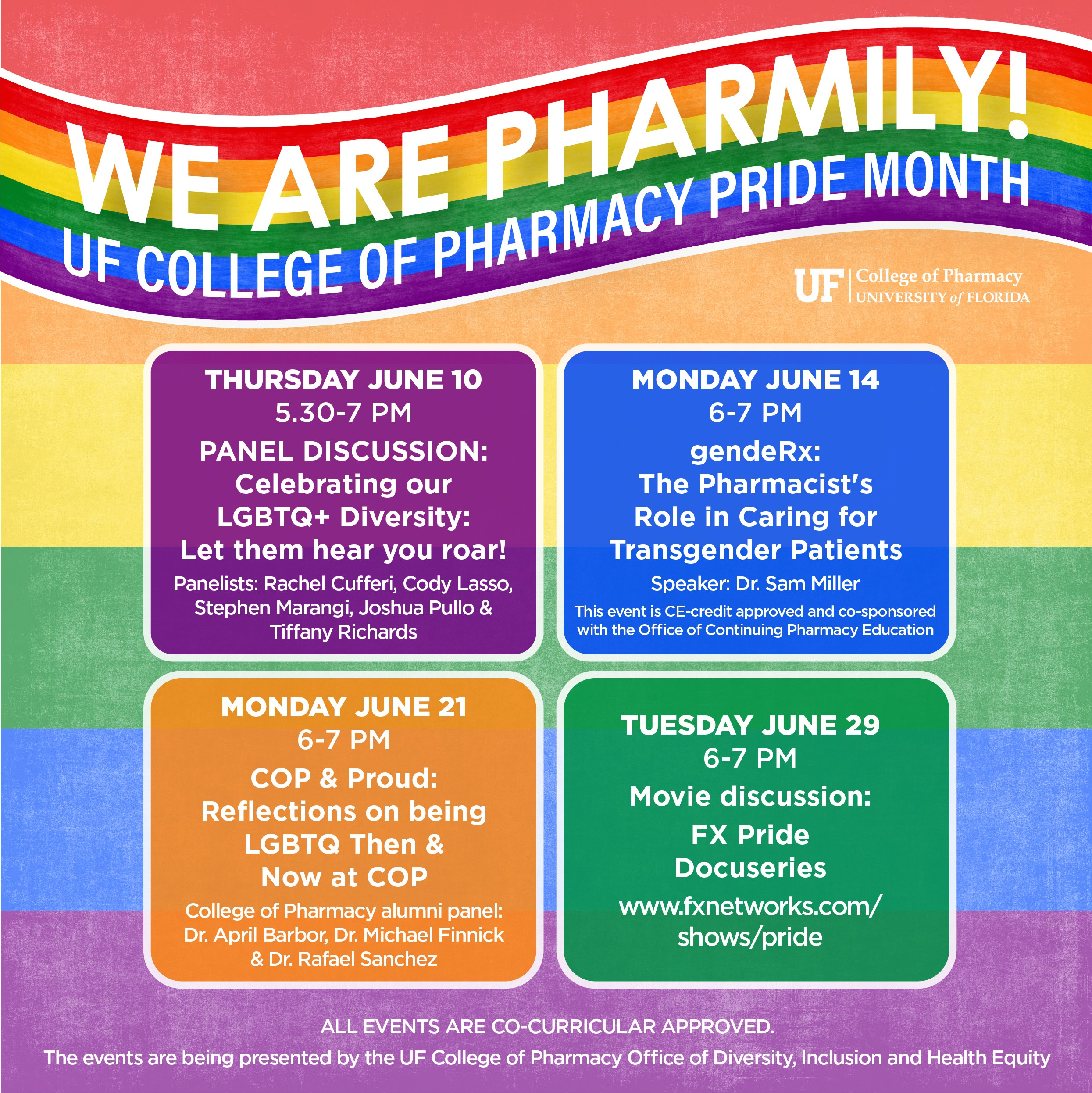 We are Pharmily Event Schedule